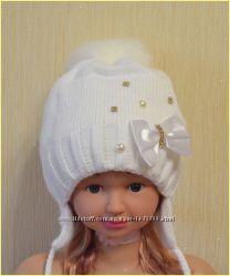 шапочка зима на девочку