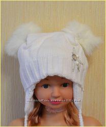 Зимова шапочка на дівчинку