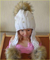 Стильная зимняя шапочка на девочку