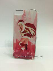 Чехол новогодний для iPhone 5 5S SE Разные цвета