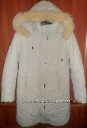 Зимова подовжена курточка - пальто.