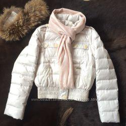 Куртка зимняя женская воротник натуральный мех енота