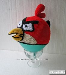 Шапка - Angry Birds ручной вязки