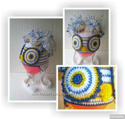 Шапка - сова ручной вязки