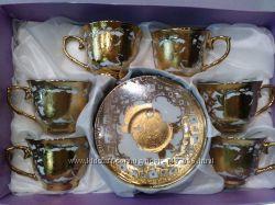 Кофейный набор в золоте