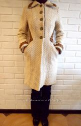 бежевое осеннее пальто, размер s42-44