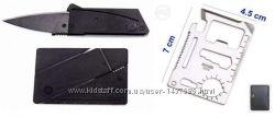 Нож-кредитка, визитка, карта 11 в 1. Мультитул. Цена за одно изделие.