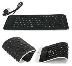 Клавиатура мягкая, силиконовая, водонепроницаемая. Компактная 24-13-3.
