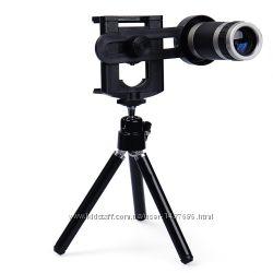 Телескоп, монокуляр, zoom, зуммер для телефона. 8-ми кратное увеличение.