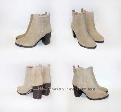 Новые бежевые ботинки на каблуке daisy street