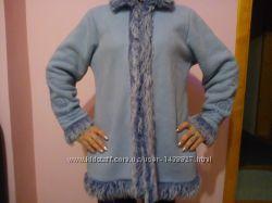 Пальто зимна голубий розмір-38