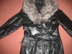 Женская кожаная куртка зима-весна-осень