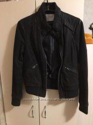 Куртка из натуральной кожи нубук горький шоколад