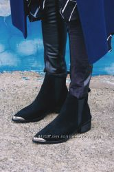 Новые замшевые ботинки фирма lightinthebox размер 38 24, 5 см