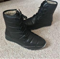 Женские зимние теплые ботинки сапожки дутики на шнуровке и на змейке, 36-41