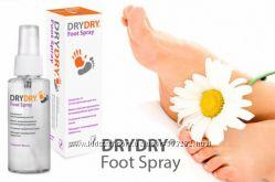 Дезодорант-спрей для ног от пота и запаха Dry Dry Foot Spray