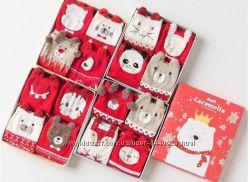 Носочки Cristmas в подарочной коробке. Отличный подарок на Новый год