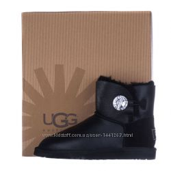 Женские угги UGG Mini Bailey Button Bling Leather