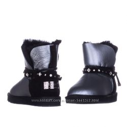Женские угги Shoelace Leather Glamour GreyBlack