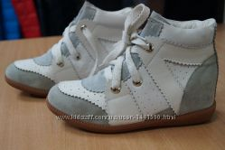 Ботинки жен на платформе 37р. кожа