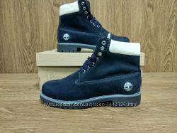 Ботинки тёмно синие, женские