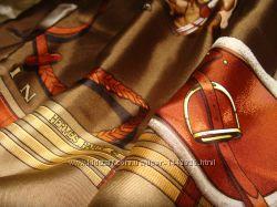 платок шаль Hermes Jumping оригинал винтаж шелк