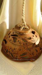 Лампа керамическая резная