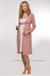 Хлопковый халат для беременных и кормящих Мамин Дом