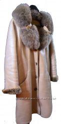 Дубленка натуральная с меховым воротником Singe Collection