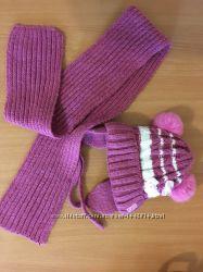 Зимняя шапка и шарф