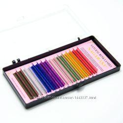 Цветные Ресницы для наращивания Nagaraku 16 линий
