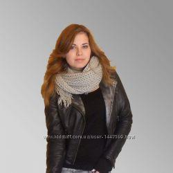 Модный молодежный серый зимний шарф Германия 200 см