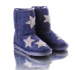 Синие угги со звездами