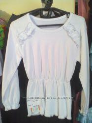 Блуза белая школьная Лиза