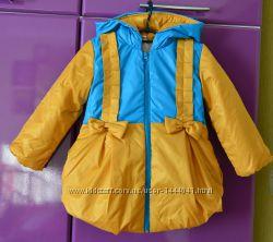 Демисезонная курточка на весну осень курточка р 92 98 104 блакитно-жовта