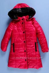 Фирменная зимняя курточка пальто для девочки ТМ New Mark р. 110-116