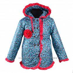 Демисезонная курточка удлиненная плащик пальто на весну осень р 116-122-128