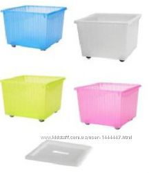 Ящик на колесиках для хранения игрушек VESSLA Икеа