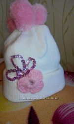 продам зимнюю шапку на девочку 4-5 лет