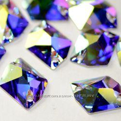 Ломанный ромб DMC Premium Crystal AB 20х16мм - Пришивные стразы стекло