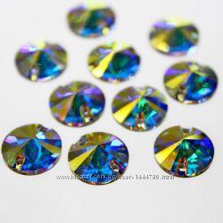 Стразы пришивные риволи DMC Premium Crystal AB 10мм