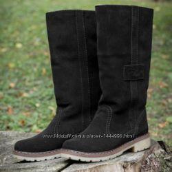 Сапоги женские зимние низкие на низком каблуке