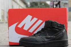 Женские высокие кроссовки Nike Air Force на меху