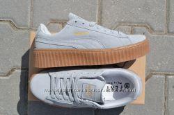Puma x Rihanna Suede Женские кроссовки замшевые серые