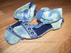 Босоножки джинс женские 36 р