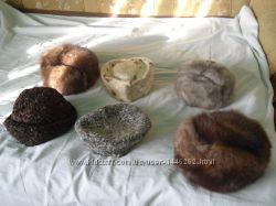 Шапки из натурального меха каракуль, нерпа,  соболь и норка
