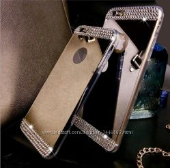 Женские зеркальные силиконовые чехлы iphone 5 6 7