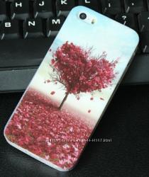 Премиум силиконовый чехол с Дерево с сердцем в 3D для Iphone 5 5S 6 6S