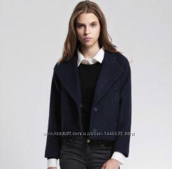 ZARA Полупальто шерстяное черное zara короткое укороченное пальто зара