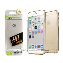 Силиконовый чехол G-Case Ultra Slim Silicon 0. 5mm для Apple iPhone 6, золот